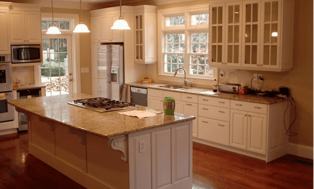 Unfinished kitchen cabinets with glass doors