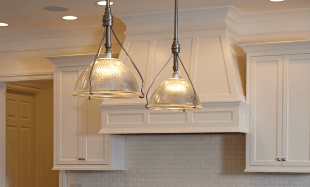 Vintage lighting for kitchen island