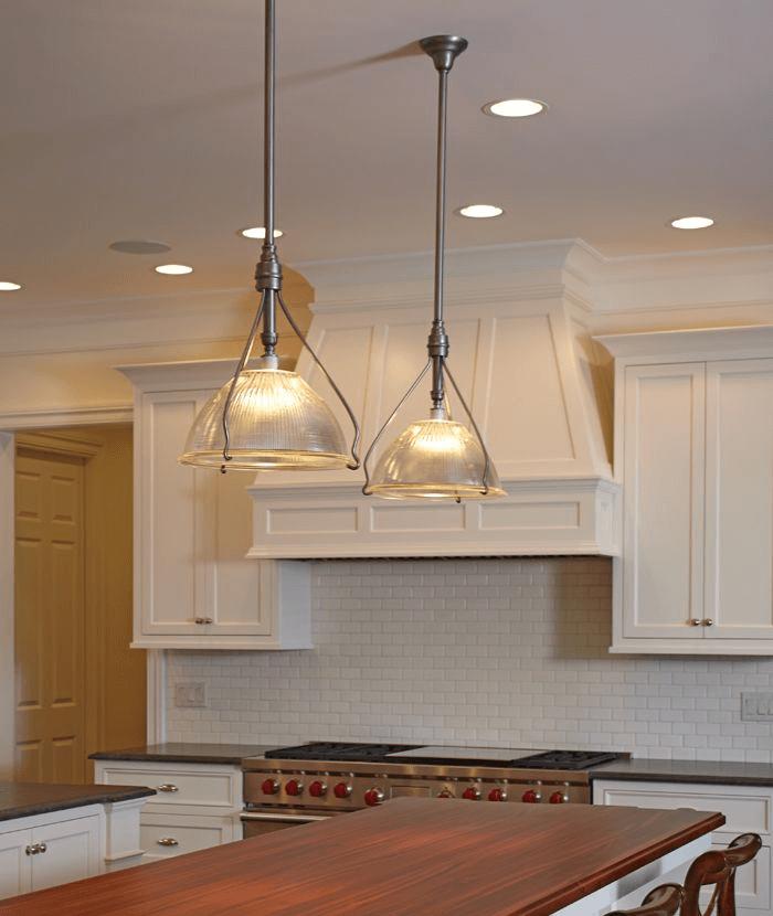 Vintage lighting for kitchen island
