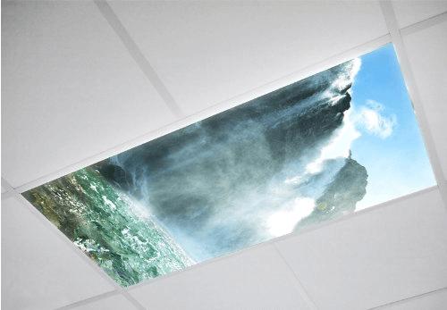Waterfall Fluorescent light covers