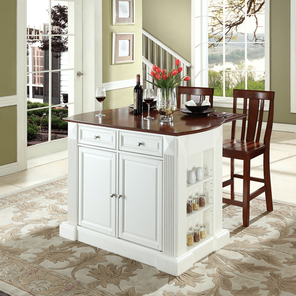 white kitchen island with drop leaf diy kitchen island drop leaf 27638