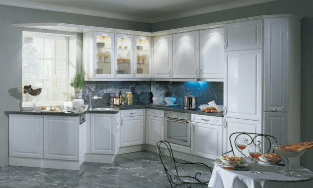 White kitchen cabinets doors glass