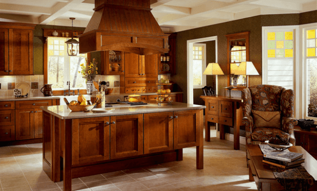 Wooden brown Kitchen Island Hood