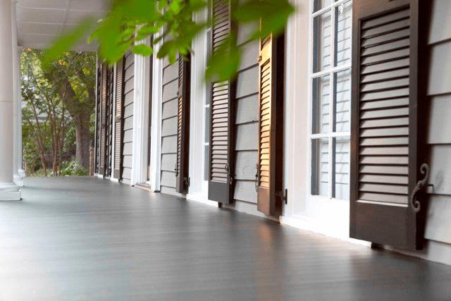Aeratis porch flooring