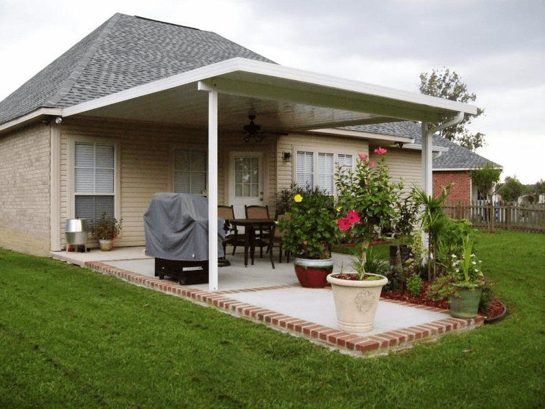 Aluminum patio covers materials