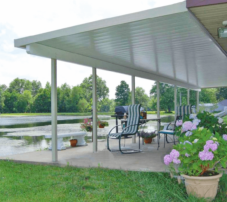 Aluminum porch ceiling panels