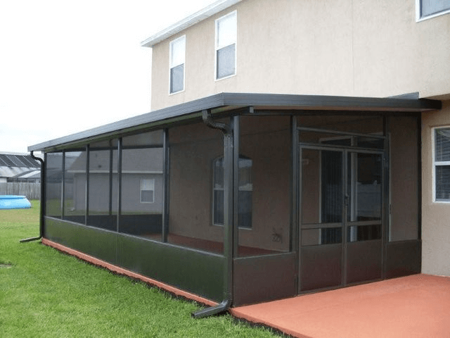 Aluminum screen patio enclosures