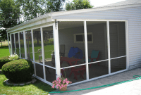 Aluminum screened porch panels