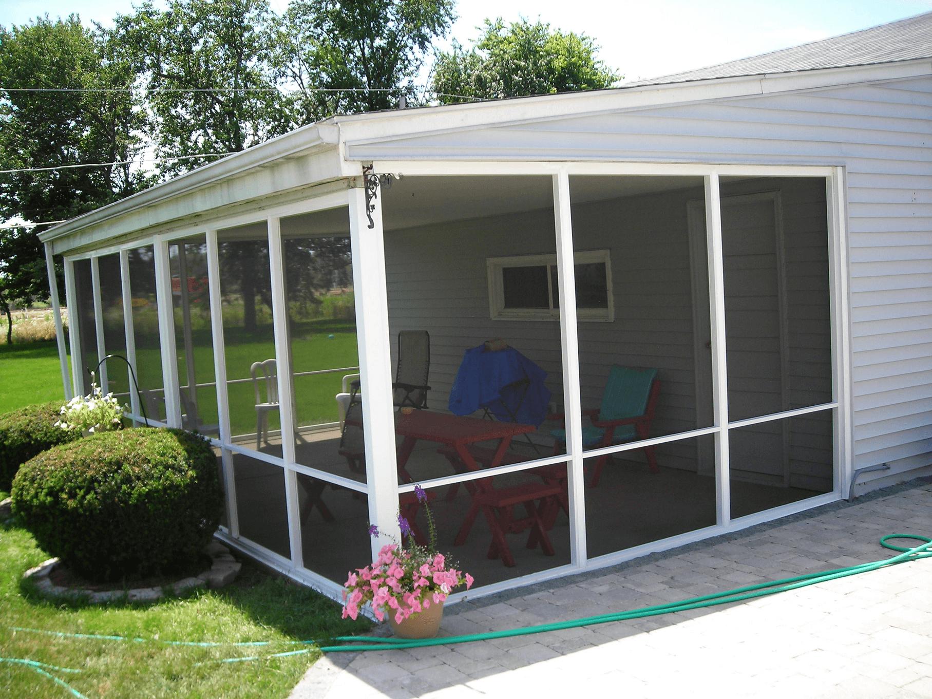 Aluminum screened porch panels