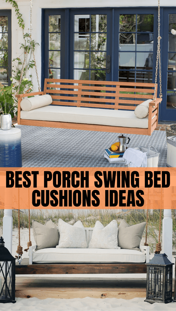 BEST PORCH SWING BED CUSHIONS IDEAS