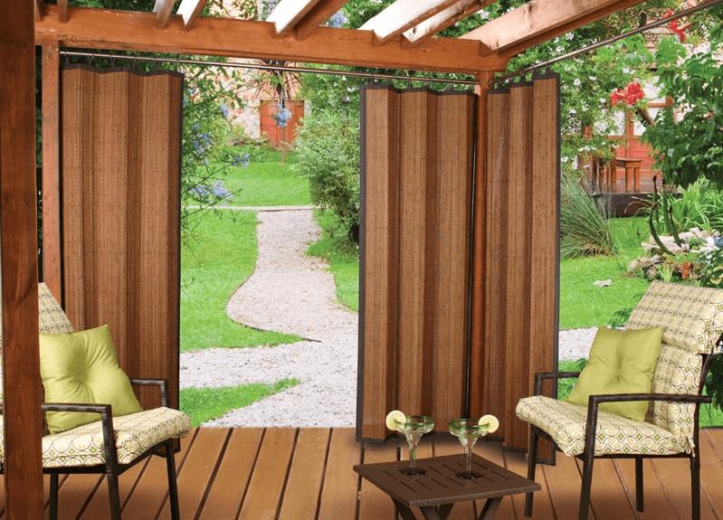 Bamboo Porch Curtains