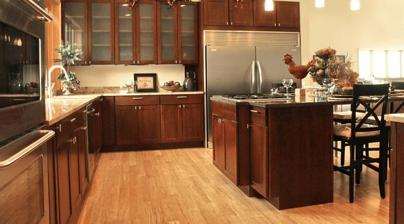 Bamboo floor tiles for kitchen