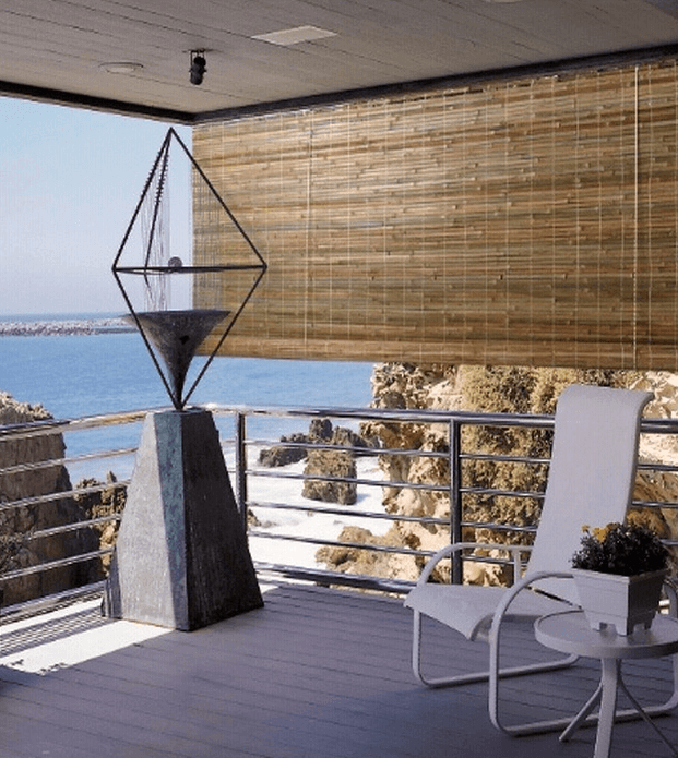 Bamboo outdoor curtains