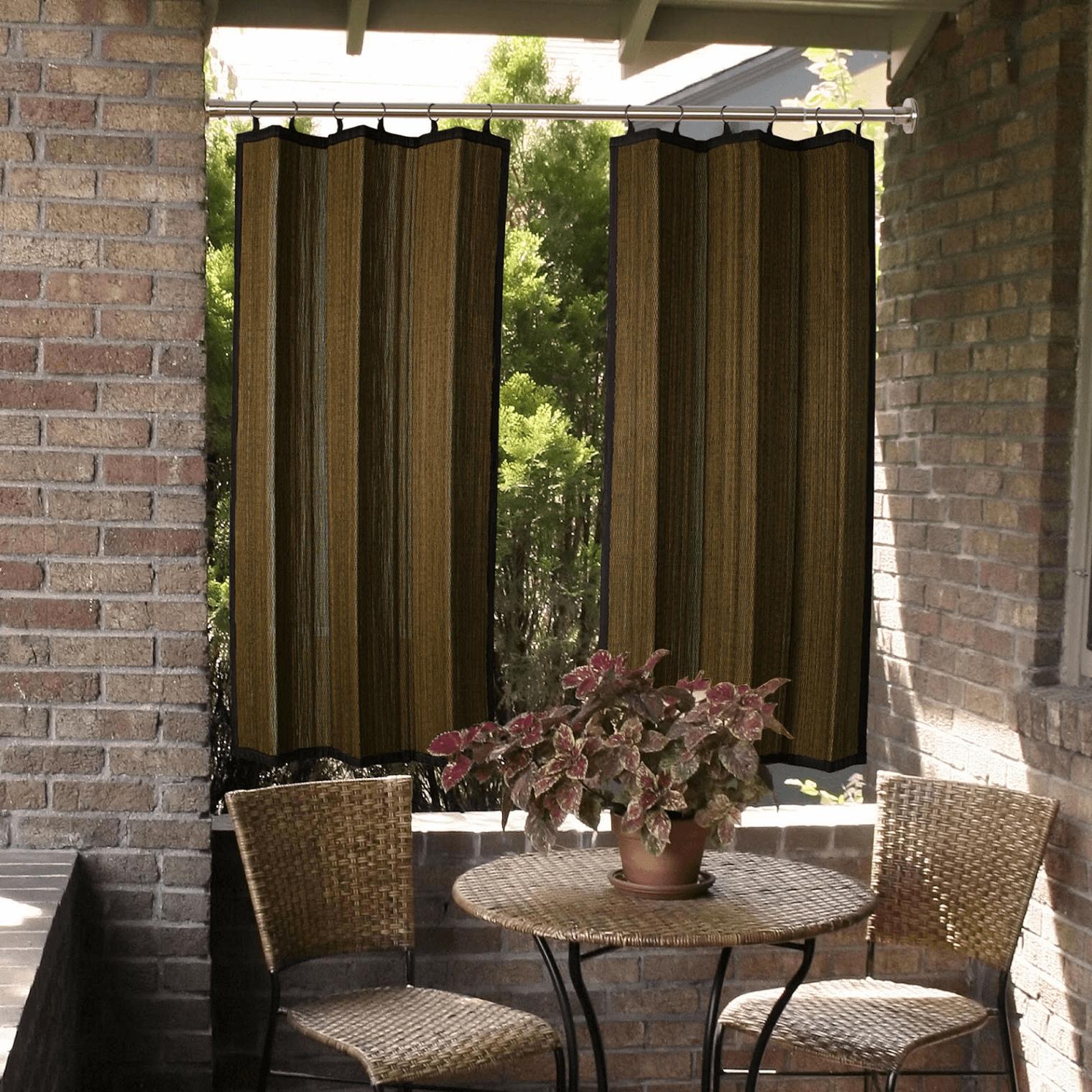 Bamboo patio door curtains