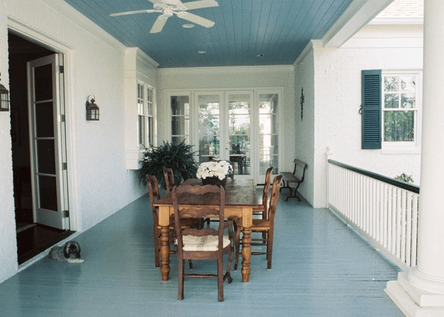 Blue porch floor paint color ideas
