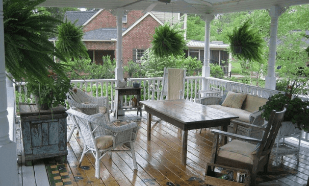 Country House porch flooring paint