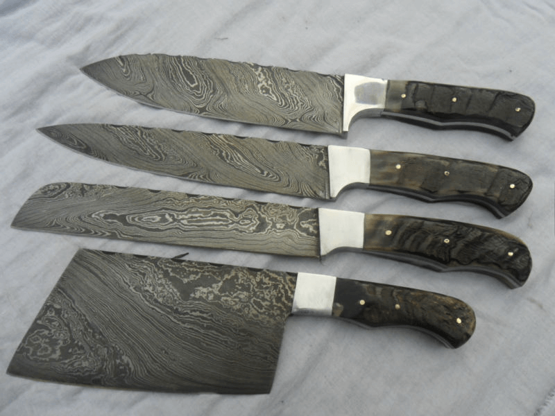 the ancient yet popular blade damascus kitchen knife set