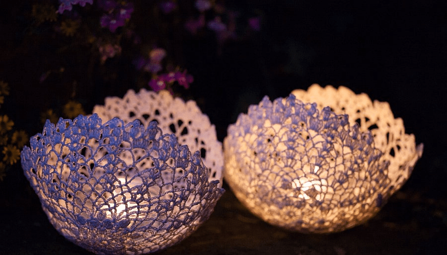 Doilies and Candles Lighting