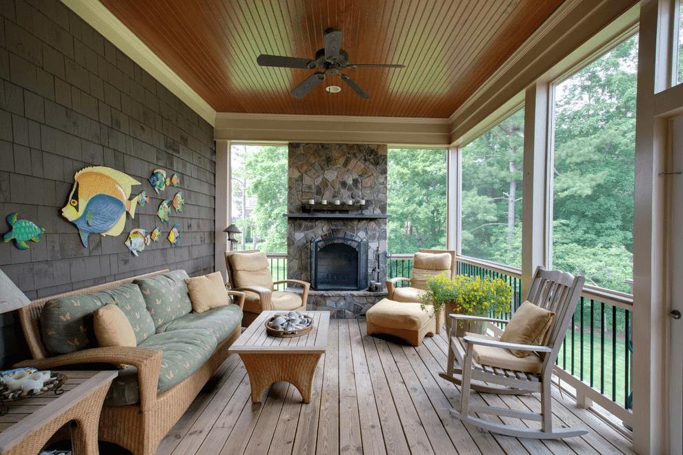 Fake Wood porch flooring idea
