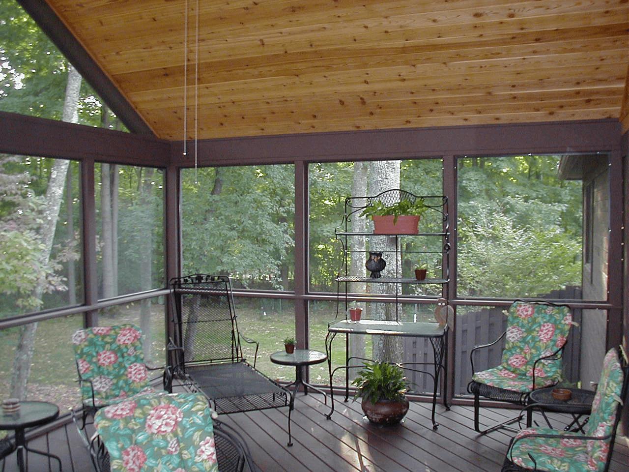 Fiberglass screening for porches