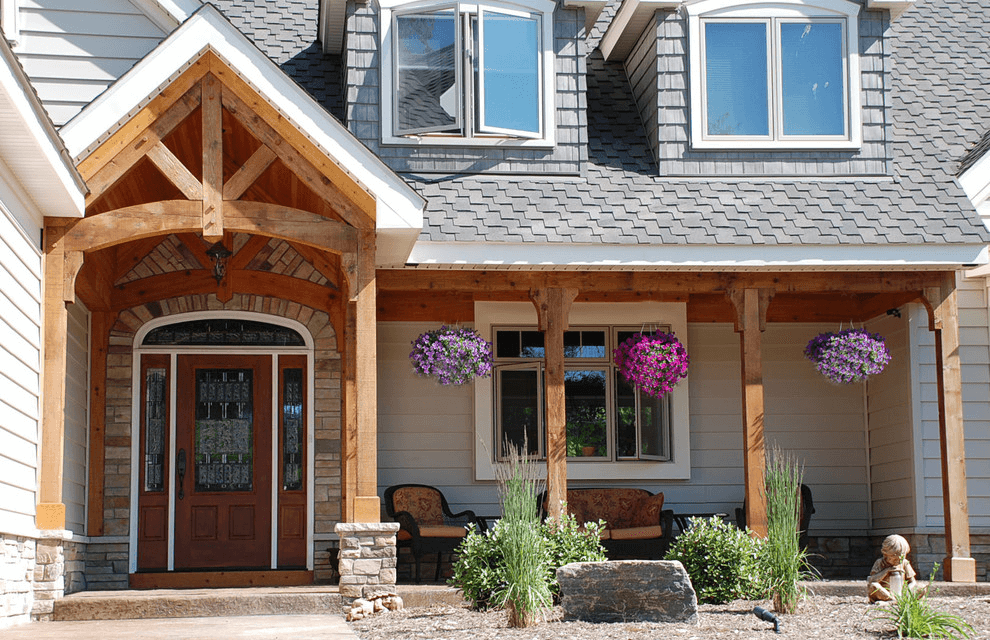 How to build front porch columns using wooden material solutioingenieria Image collections