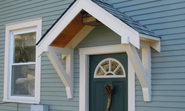 Front door awning design