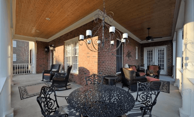 Front porch recessed lights