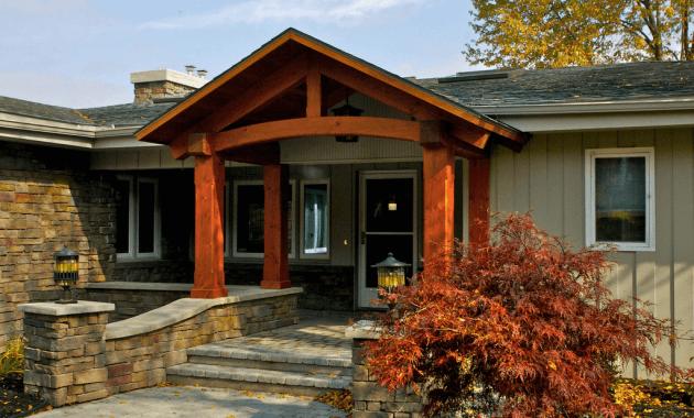 Front porch wood columns