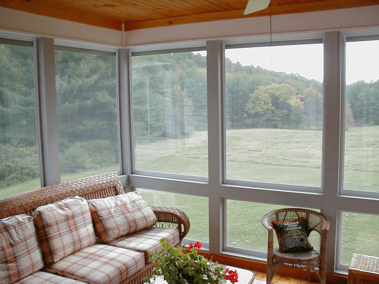 Glass windows for screened porch