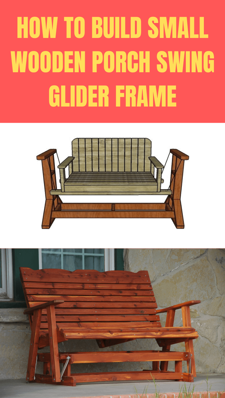 How to Build Small Wooden Porch Swing Glider Frame step by step