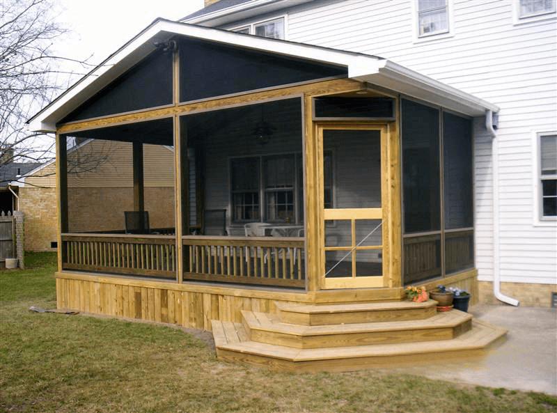 Interesting ideas screened in porch doors design