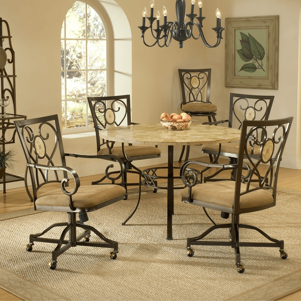 Kitchen Chairs With Casters No Arms Easyhometips Org
