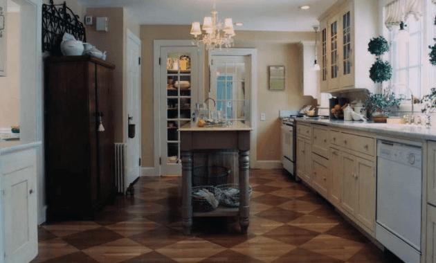 Kitchen enginered wood flooring tile