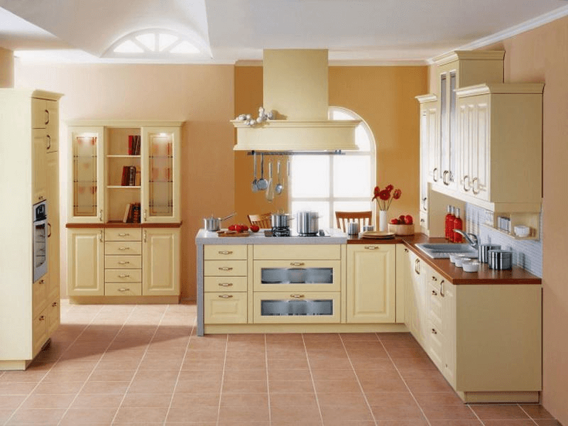 Kitchen floor and cabinet color combinations