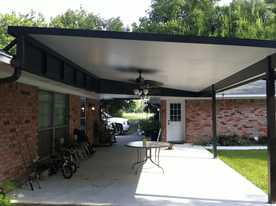 Metal porch covers