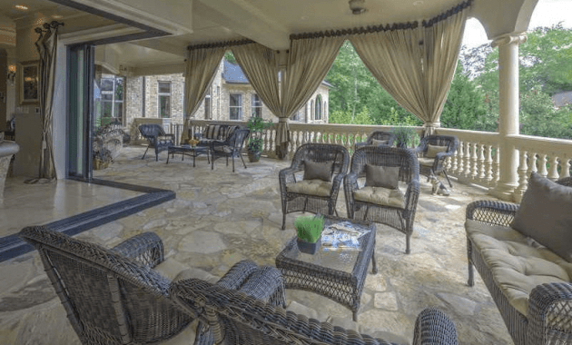 Natural Stone porch flooring idea