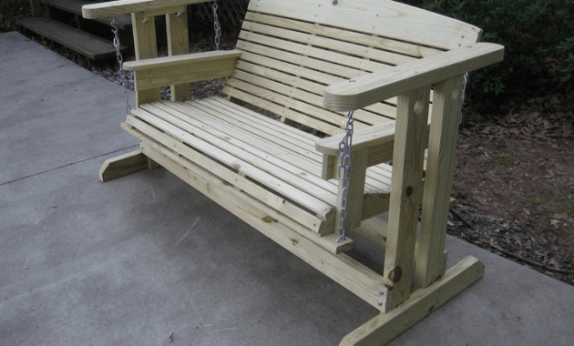 Natural Wooden Porch Swing Glider Frame design ideas