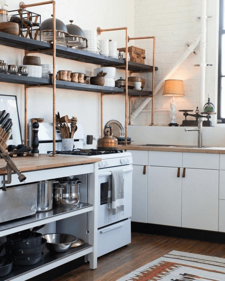 Open Shelving Kitchen Hutch design