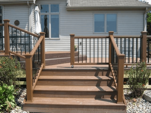Outdoor baby gate for porch