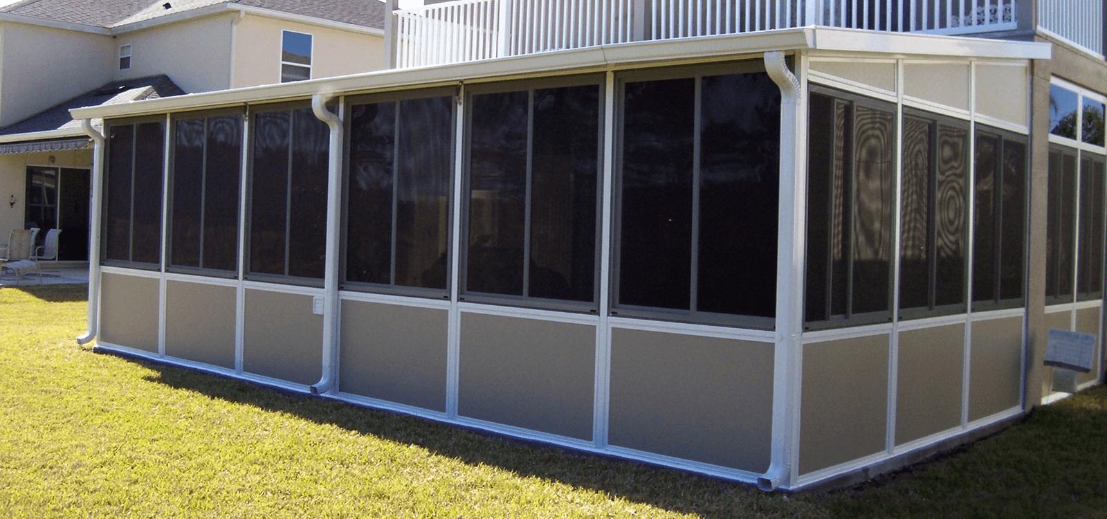 Outdoor patio screen enclosures