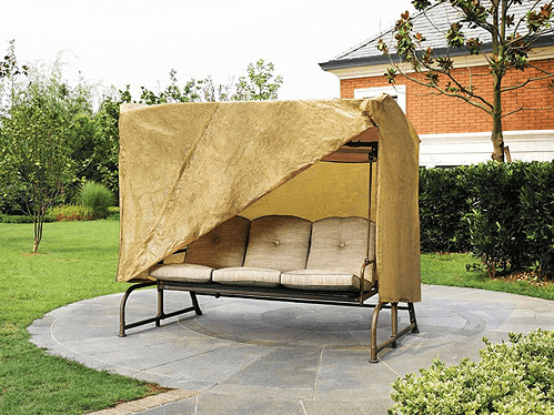 Outdoor porch swing cover replacement