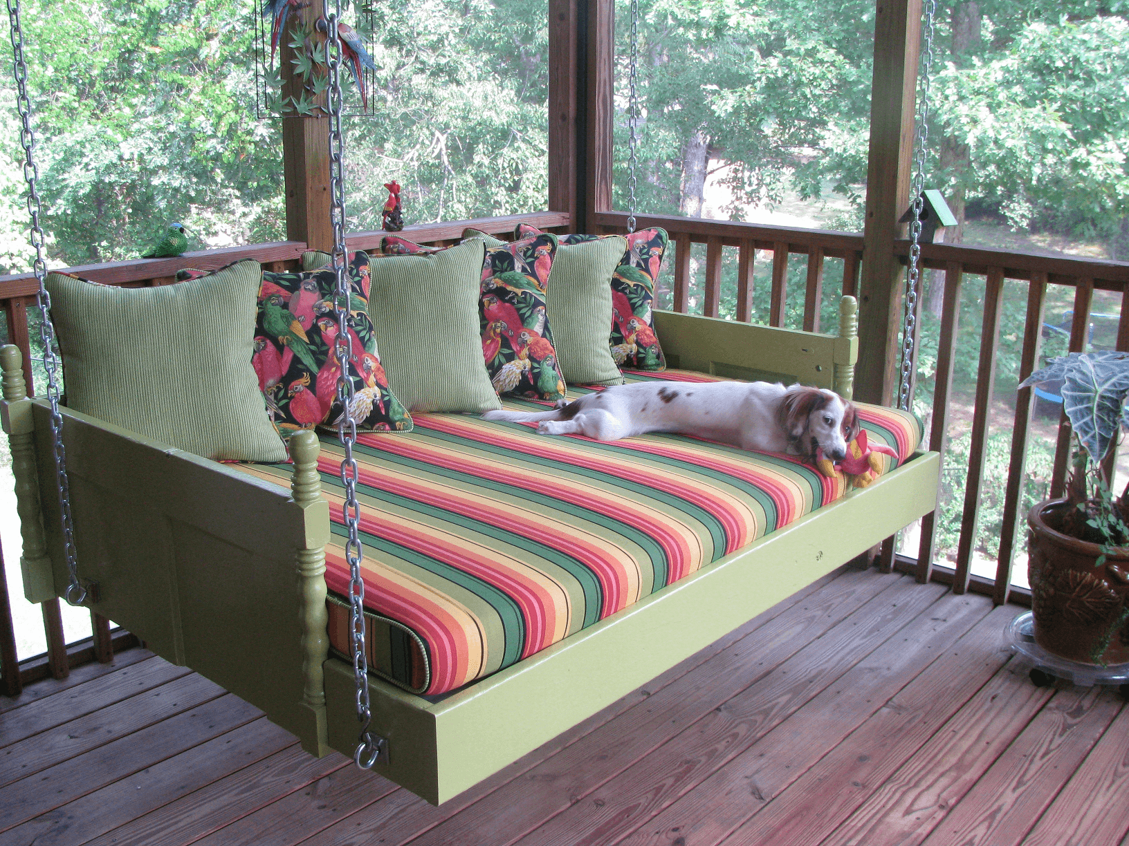 Outdoor swing bed cushions