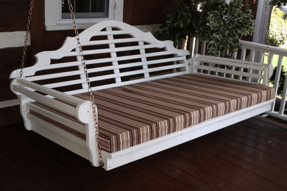 Outdoor swing bed mattress cover