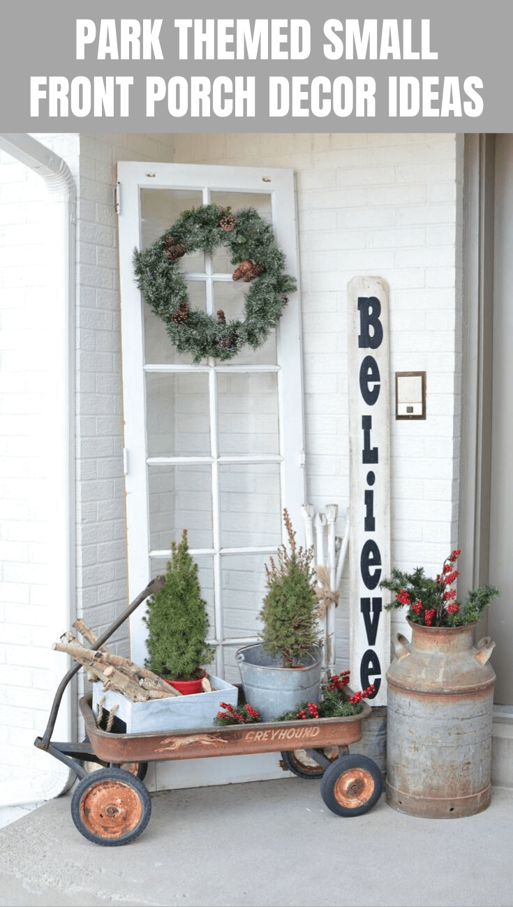 PARK THEMED SMALL FRONT PORCH DECOR IDEAS