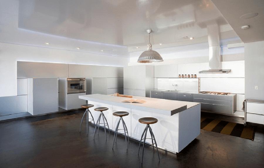 Painted Concrete Kitchen Flooring picture ideas