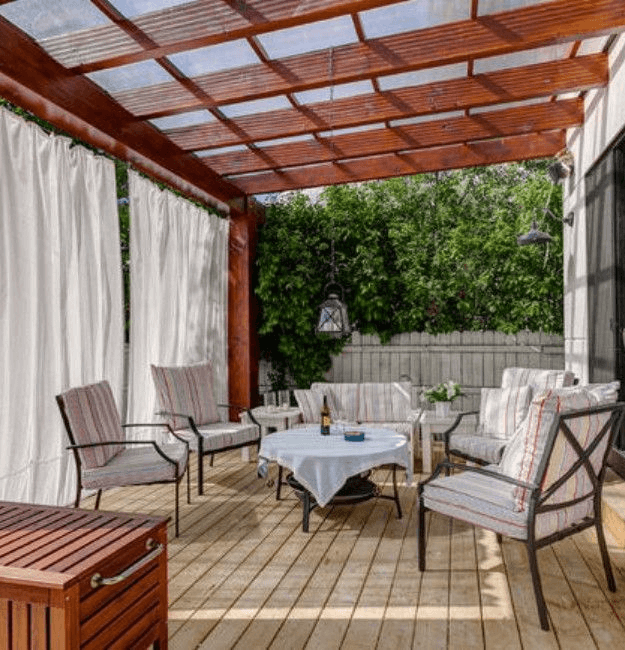 Pergola White patio cover ideas