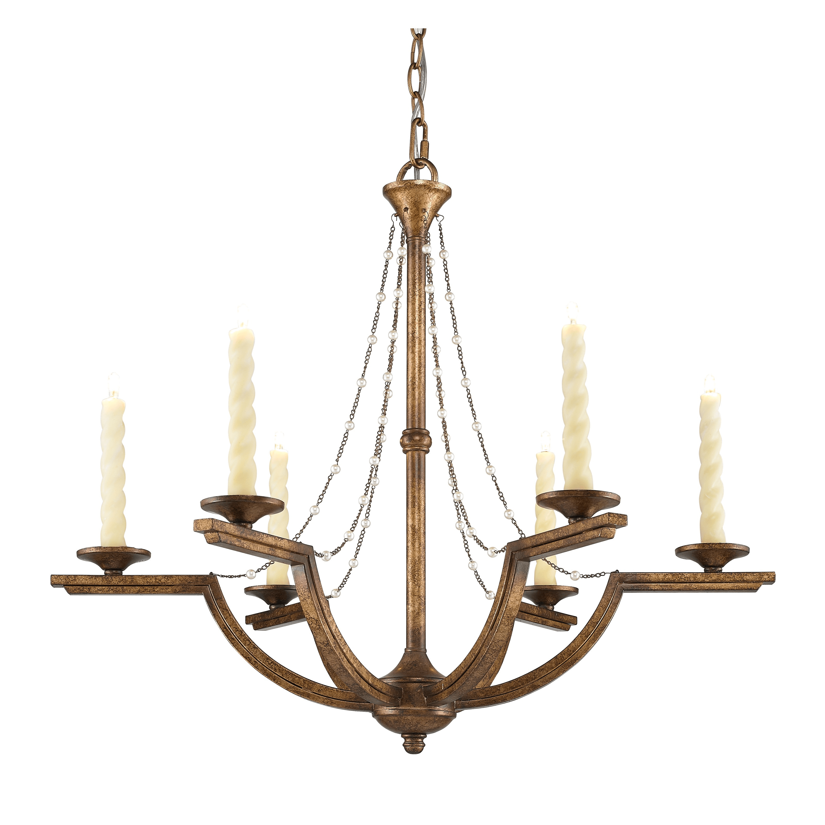 Plug in chandelier modern for ceiling candle lighting with 6 light