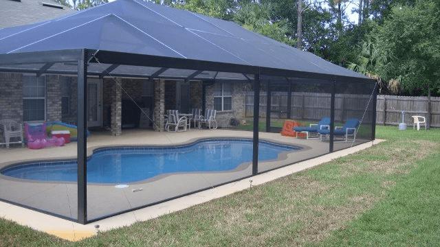 Pool patio screen enclosures