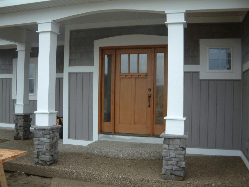 Porch column base plate