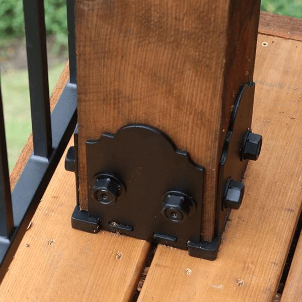 Porch post base bracket
